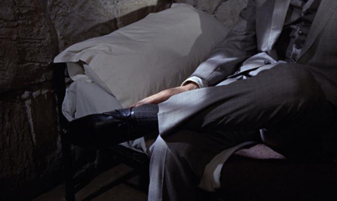 One would be hard-pressed to ask for a better and more context-appropriate image of Bond's feet. Take it in.