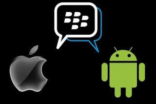 Blackberry service on android and ios