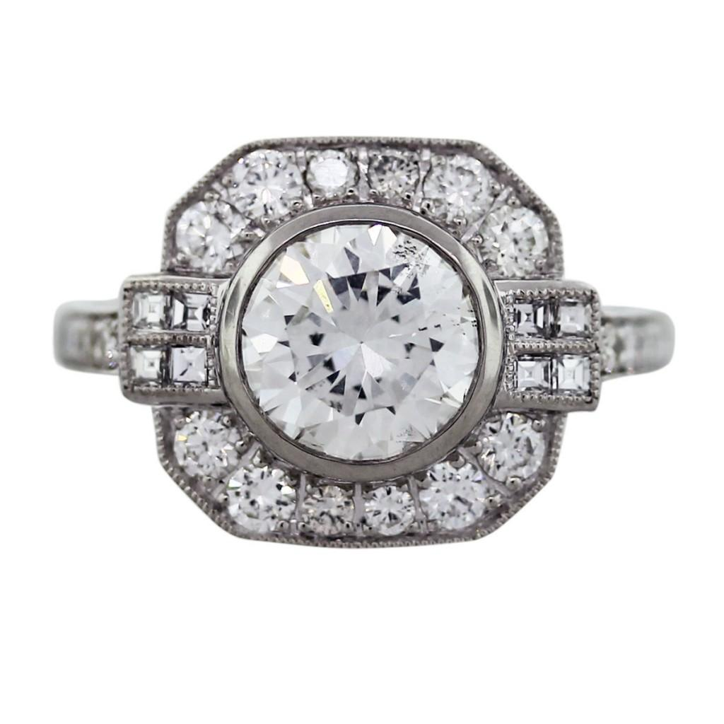 Antique Style Engagement Ring, Engagement Rings Boca Raton, Art Deco Style  Engagement Ring