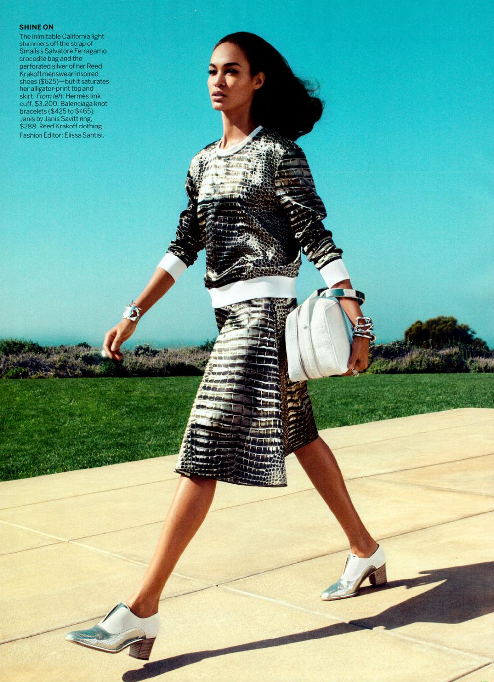 Joan Smalls by Camilla Akrans for Vogue US June 2013