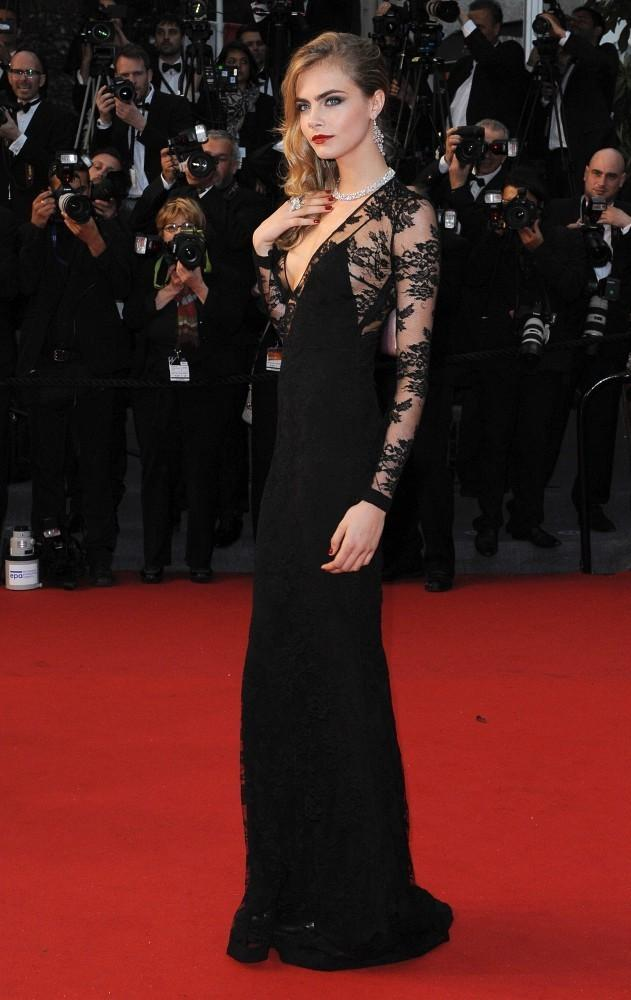 cara delevingne in burberry at the 2013 cannes film