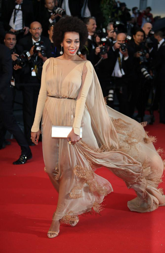 Solange Knowles In Stéphane Rolland Couture at the 2013 Cannes...