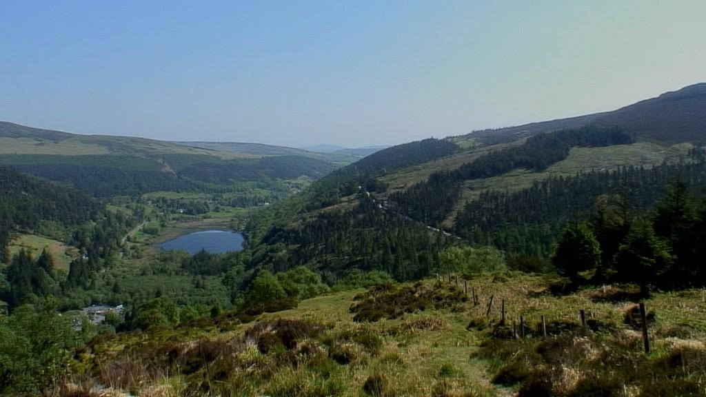 glendalough valley in the wicklow mountains - ireland