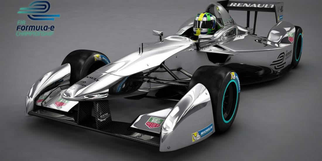 The new look of the Formula E racing car. (Credit: Official FIA Formula E Blog)