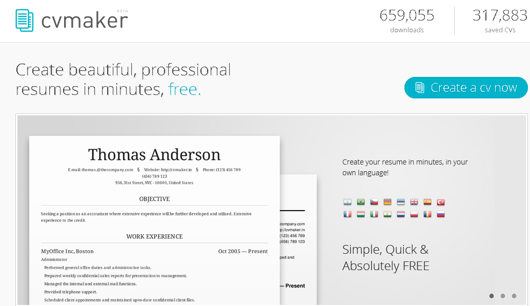 creating a resume online visualcv online lebenslaufbuilder und professioneller ideas about free online resume builder on pinterest online creating a resume