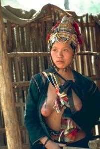 An Akha tribal woman from northern Thailand. Basically a Yunnanese grouping.