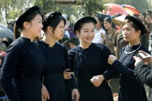 Classic Vietnamese types - young women.