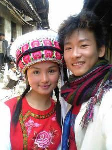 The Bai, a Tibeto-Burman group from Southern China. Note rounded cheekbones similar to Koreans.