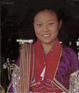 Palaung, a group from southern China and Thailand. Note resemblance to Tai.