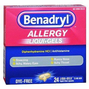 Benadryl Dye-Free Allergy Relief, Liqui-gels