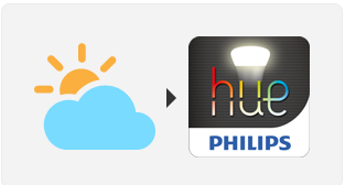 If it's almost sunset, turn on the lights - IFTTT recipe