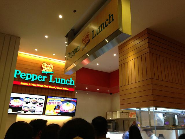 Sm Aura Premier: Pepper Lunch Express under the Sky Park