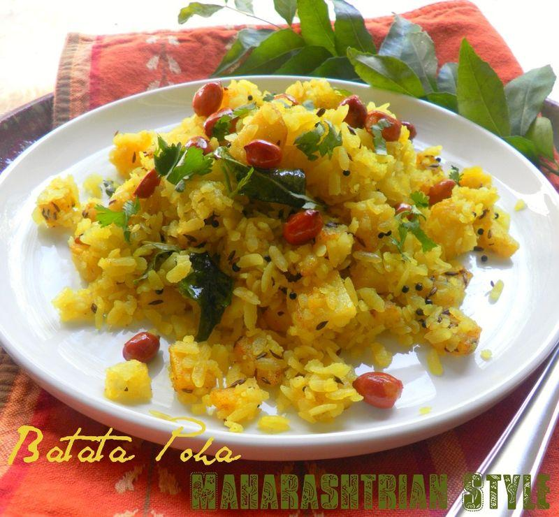 Batata Poha ~ A Classic Brunch Specialty of Flattened Rice & Potatoes ...