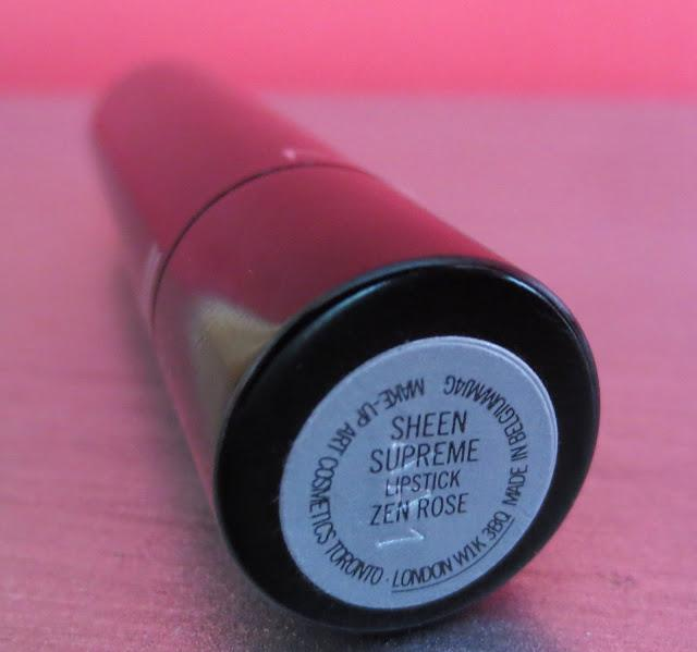 MAC Sheen Supreme Lipstick in Zen Rose