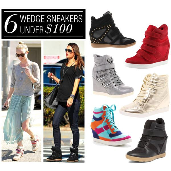 Polyvore: 6 Wedge Sneakers Under $100.00 - Paperblog