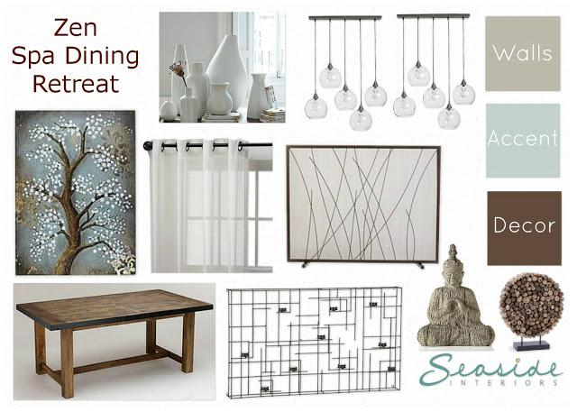 Zen/Spa Retreat Living and Dining Room Mood Board 2 Ways! - Paperblog
