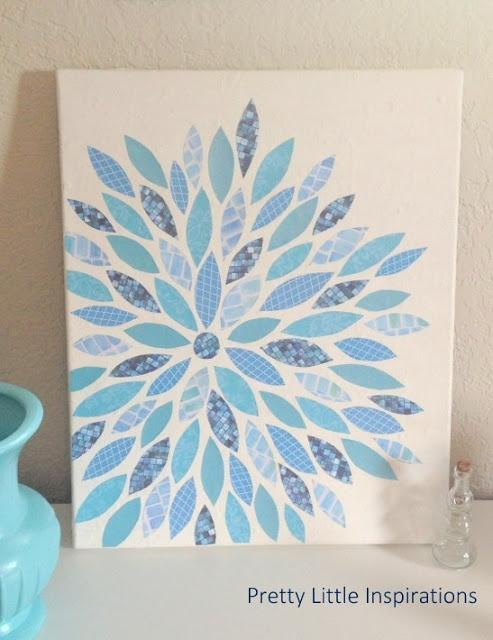 diy canvas paper art paperblog