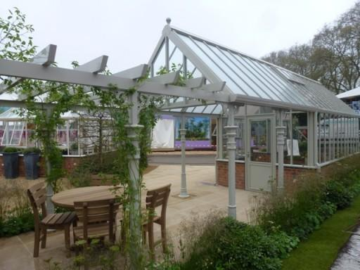 victorian greenhouse with canopy