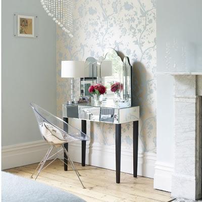 mirrored bedroom vanity paperblog