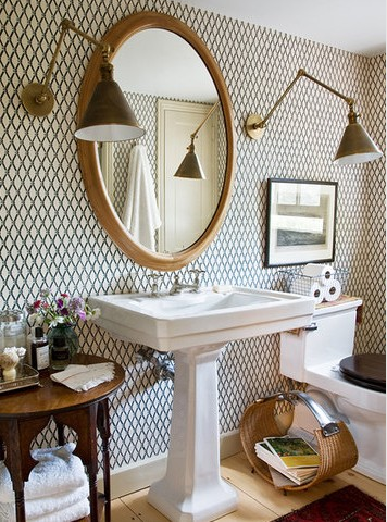 give your powder room personality - Powder Room Pedestal Sink