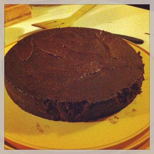 Flour less chocolate cake. #food #cake Might not look like much...