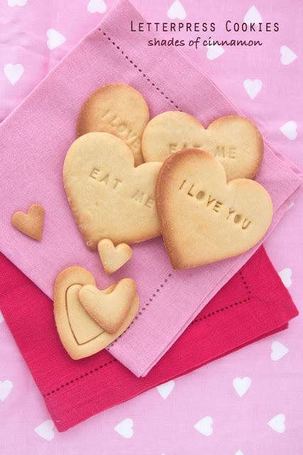 Letterpress cookies