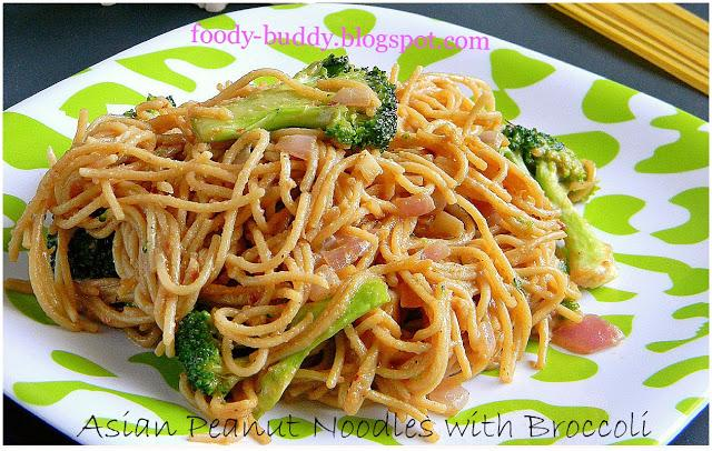 Asian Peanut Noodles with Broccoli - Paperblog
