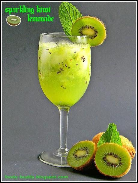 Sparkling Kiwi Lemonade - Drink Recipes