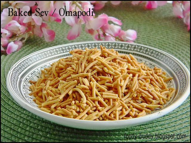 Baked Sev / Low fat Omapodi