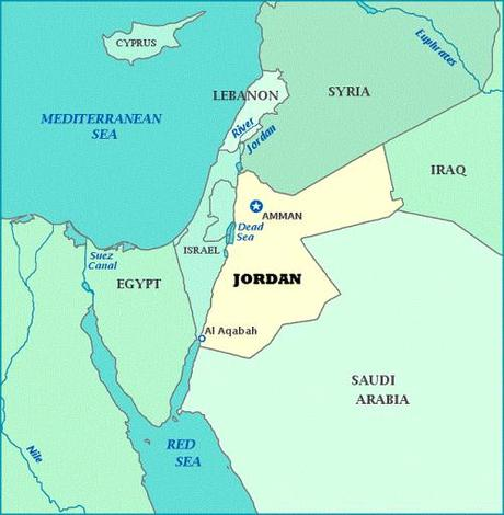 map-of-jordan & Syria
