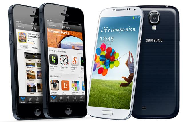 Samsung Galaxy S4 vs iphone 5 detailed specs review