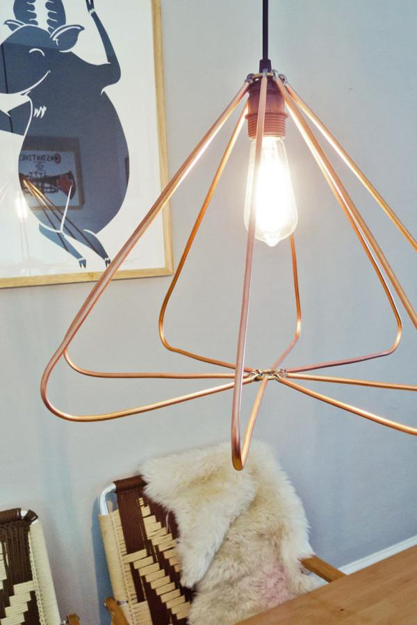 ... Modern: DIY Copper Geometric Pendant Lamp in home furnishings Category