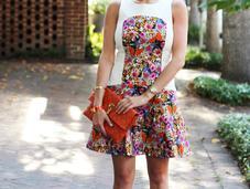 Tibi Floral Denimi Dress