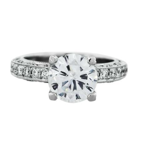 Tacori Engagement Ring Boca Raton 2.22ctw round brilliant and platinum ring