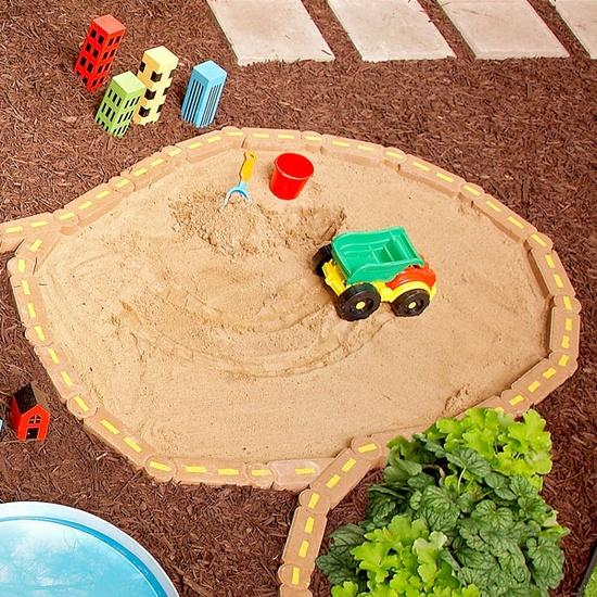 how to make a covered sandbox