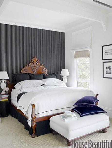decor wallpaper designs for bedroom5 Decorating The Wall Behind Your Bedroom Headboard HomeSpirations