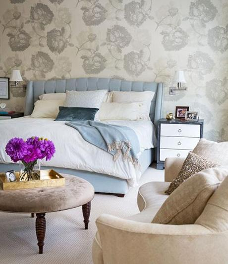 decor wallpaper designs for bedroom4 Decorating The Wall Behind Your Bedroom Headboard HomeSpirations