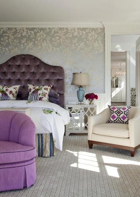 contemporary bedroom Decorating The Wall Behind Your Bedroom Headboard HomeSpirations