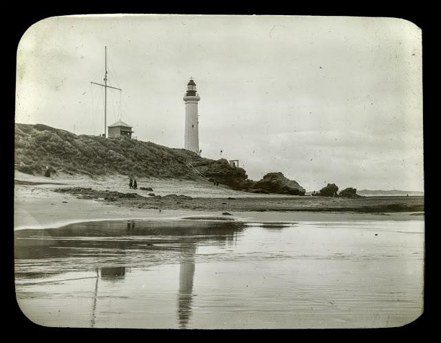 Point Lonsdale and lighthouse by Gerard S. Wardell 1904-1992 taken in 1937 - 1938 state library of victoria