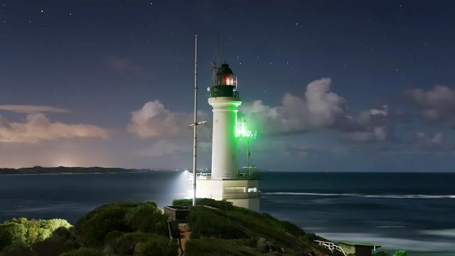 point lonsdale lighthouse after sunset