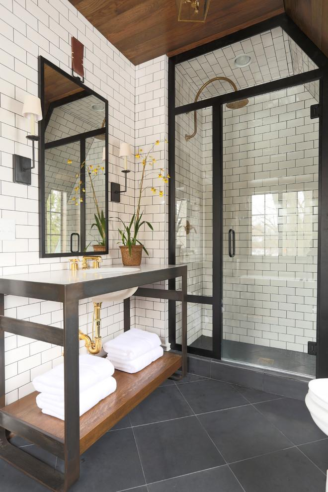 This shower is the perfect answer to my slanted ceiling bathroom problems!