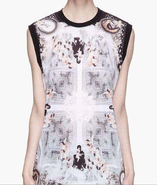 Givenchy Grey and white Angel and Madonna print t-shirt...