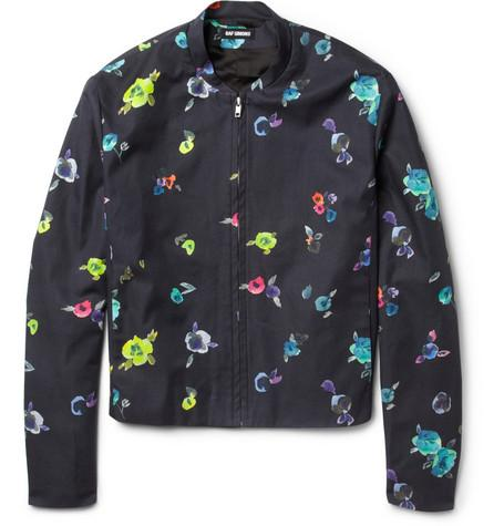 Raf Simons Floral Collection Flower-Print Loopback Cotton-Blend...