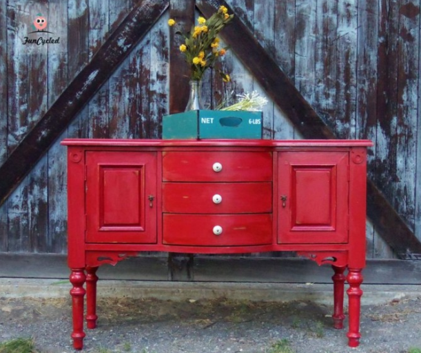 Color furniture teak credenza u0026 wall color secret for How to change furniture color