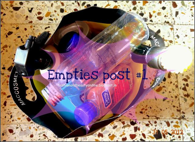 Empties post ; products I have used up #1
