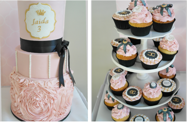 A Gold And Pink Princess Themed Birthday By Beautique