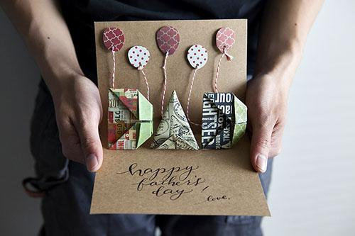 DIY Origami Popup Fathers Day Card Printable Paperblog – How to Make Origami Birthday Cards