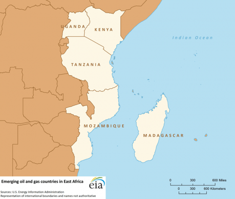 Emerging oil and gas countries in East Africa (Source: U.S. Energy Information Administration)