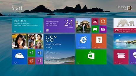 Windows 8.1 Star Screen
