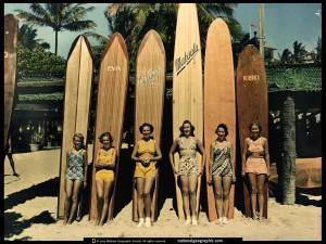 ladies surfing